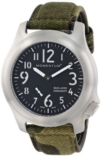 Momentum  1M-SP76B4 - Reloj de cuarzo para hombre, con correa de nailon, color verde