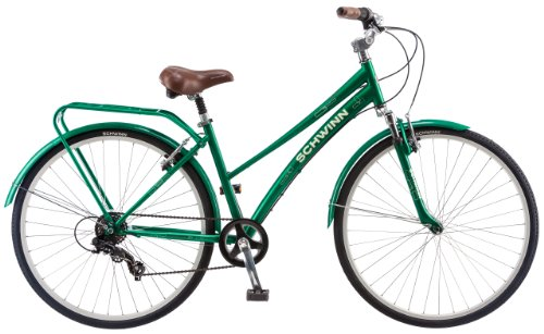 Schwinn Women's Network 2.0 700c Hybrid Bicycle, Matte Green