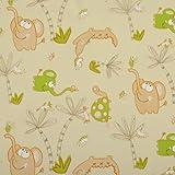 Orange and Green Kids Animals PVC Vinyl Wipe Clean Tablecloth - Rectangle 140cm x 300cm (55
