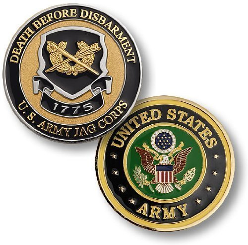 US Army JAG Corps Challenge Coin - 1