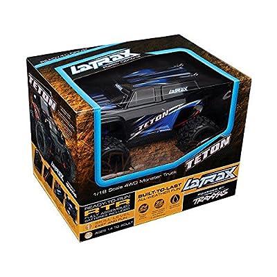(Ship from USA) Traxxas 1/18 LaTrax Teton 4WD Monster Truck RTR Orange w/ 2.4GHz Radio w/ ID