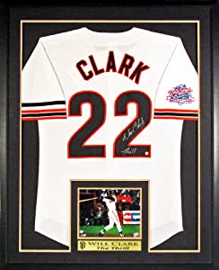 Will Clark Autographed SF Giants Jersey w  Battle of the Bay WS Patch with Inset...