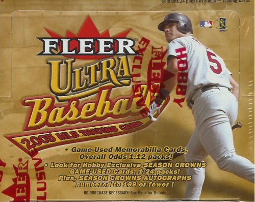 2005 Fleer Ultra Baseball Hobby Box (24 packs per box)