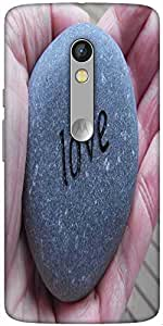 Snoogg Love Pebble Designer Protective Back Case Cover For Motorola Moto X Play