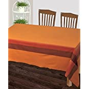 Dhrohar Hand Woven Cotton Table Cover For 4 Seater Table - Yellow