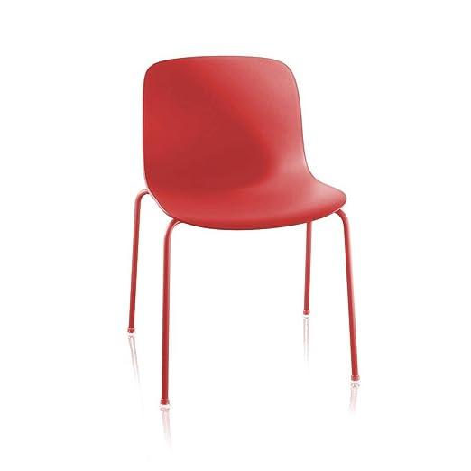 Magis Troy - Silla de jardín rojo/armazón rojo
