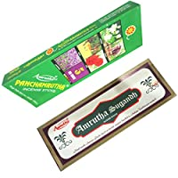DCS Amrutha Natural Incense sticks - Combo of Amrtha Sugandh & Panchamrutha (Set of 2)