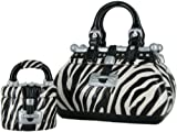 David's Cookies Zebra Handbag w/ Treat-Size Jar