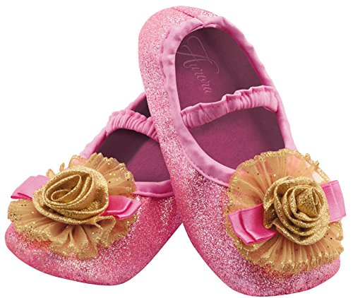 Disguise Costumes Aurora Slippers, Girls, Size 6