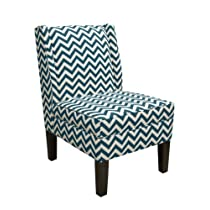 Skyline Furniture Wingback Chair in Zig Zag Titan Birch