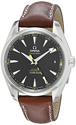 Omega Men's 23112422101001 Seamaster150 Analog Display Swiss Automatic Brown Watch