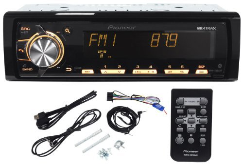 """Pioneer Mvh-X560Bt Mp3/Usb All Digital Mechless Car Stereo Receiver With Large Mult-Line Lcd Display, Bluetooth, Mixtrax, Siri """"Eyes-Free"""", Pandora Internet Radio, Iphone/Ipod/Android Compatible, Usb/Aux Input, App Mode, And Wireless Remote Control"""