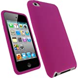 IGadgitz Pink Silicone Skin Case Cover for Apple iPod Touch 4th Generation 8gb, 32gb, 64gb + Screen Protector