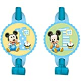 8 Count Mickey's 1st Birthday Blowouts, Blue