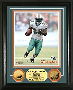 Highland Mint NFL Miami Dolphins Ricky Williams 24KT Gold Coin Photomint by Highland Mint