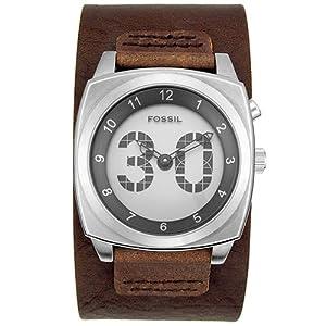 Amazon.com: Fossil Men's BG1013 Digital Big Tick Leather