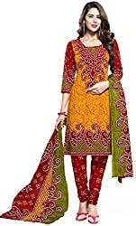 RR Fashion Women's Cotton Unstitched Dress Material (RRF2016_Yellow)