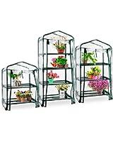 Serre de jardin casa pura® Casabella avec roulettes | 3 tailles au choix | serre mobile - grande flexibilité | stabilisé UV, résistant aux intempéries | 4 tablettes (68x49x160cm)