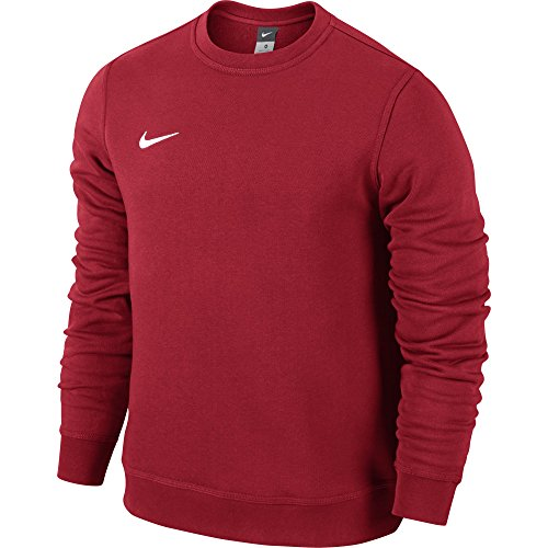 Nike Team Club Crew Felpa, Rosso / Bianco / (University Red/Football White), XL