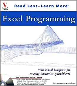 Excel Programming Your Visual Blueprint For Creating