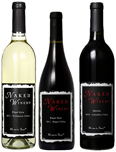 Naked Winery Perfect Threesome Mixed Pack,(Library Edition) 3 X 750 Ml