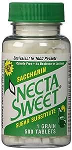 3 pack 1 grain 500 saccharin tablets