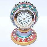 Raksha-Bandhan SPECIAL Gift Clock - Styliest Marble Stand Round Clock (Handicarft Art Clock)