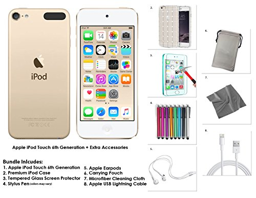 apple-ipod-touch-6g-128gb-gold-extra-zubehor-neues-modell-juli-2015