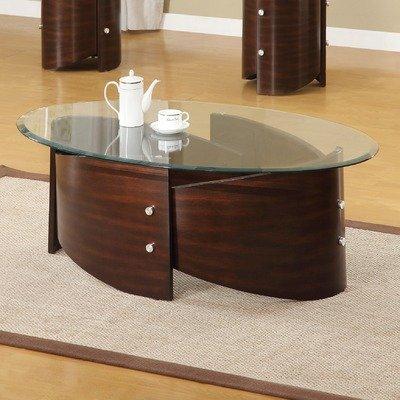 Buy low price dajon glass top coffee table set b009o2bwio for Glass tea table price