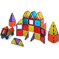 60-Piece Playmags Magnetic Tiles Building Set