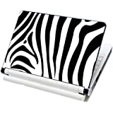 """Meffort Inc® 15 15.6 Inch Laptop Notebook Skin Sticker Cover Art Decal Fits Laptop Size of 13"""" - 16"""" Computers (Included 2 Wrist Pad) - Zebra Stripe Design"""