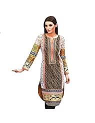 Ali Colours Trendy And Stylish Printed And Embroidered Kurti In Pure Cotton Fabric For Women - B00VRQ5BF0