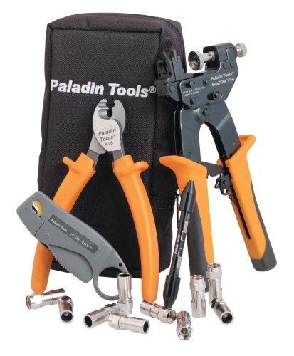 "Paladin 4910 Sealtite Pro Compression Cable Tv ""F"" Kit Wi Th Kt 8, Lc Cst, Flaring Tool, Sealtite Pro And 10 Rg6/Rg6Q In Zipper Case"