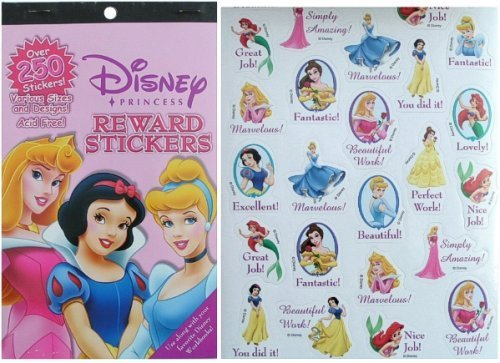 Disney Princess Reward Stickers 250 Stickers - 1