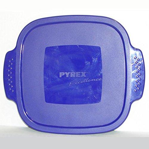 PYREX - Couvercle plastique bleu pour plat carré 25x25 *