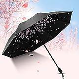 Uvistar 折りたたみ傘 晴雨兼用 桜の花びら 遮光遮熱 紫外線 UVカット 桜をイメージした傘 和風