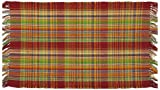 100% Cotton Flat Weave Rug Plaid 2 X 3