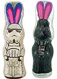 Star Wars Stormtrooper and Darth Vader 4.4 oz Chocolate Bunny Set for Easter Basket