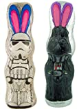 Star Wars Stormtrooper and Darth Vader 4.4 oz Chocolate Bunny Set for Easter Basket