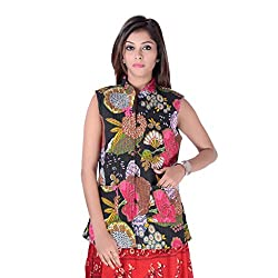 This is quilted reversable cotton rajasthani without seelvess jacket