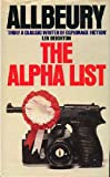 The Alpha List (0246110775) by Ted Allbeury