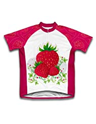 Strawberry Short Sleeve Cycling Jersey for Women