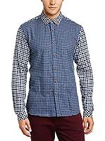 !Solid Camisa Hombre (Azul)