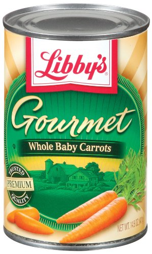 Libby's Gourmet Baby Whole Carrots, 14.5-Ounce Cans (Pack of 12)