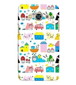 Printvisa Multicoloured Kiddish Pattern Back Case Cover for Samsung Galaxy J3 Pro