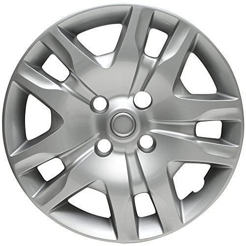 Hubcap for Nissan Sentra, 2010-2012 Silver Auto Hub Cover, OEM Genuine Factory Aftermarket Replacement, Snap On - Fits 16
