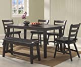 Seattle 6-Pc Kitchen Table Set by Coaster