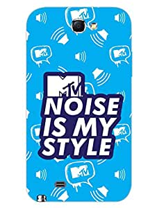 Samsung Note 2 Back Cover - MTV Gone Case - Noise Is My Style - Blue - Designer Printed Hard Shell Case