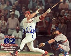 Mark McGwire Signed / Autographed 62nd Home Run 8x10 Photo