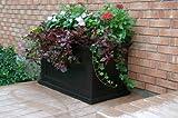 Mayne Fairfield 5826B Patio Planter, 20-Inch by 36-Inch, Black